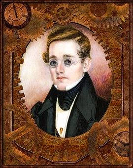 Portrait, Guy, Dude, Steampunk, Victorian, Male