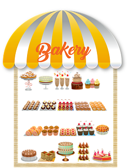 Bakery Window, Awning, Bakery, Shop, Storefront