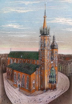 Poland, Krakow, Cathedral, Travel, Showplace