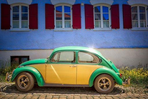 Beetle, Vw, Auto, Volkswagen, Oldtimer, Vehicle