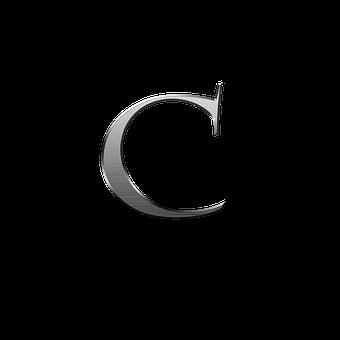C, Letter, Metal, Typography, Alphabet