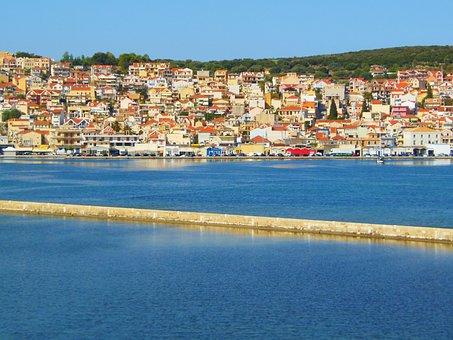 Greek Island Harbor, Argostoli, Kefalonia, Harbor