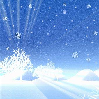 Christmas Background, Snow, Bokeh