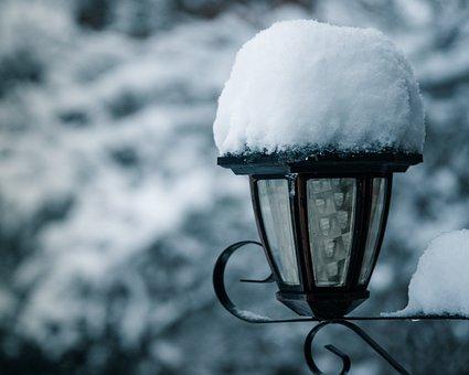 Winter, Snow, Light Post, Cold, Nature, White, Fantasy