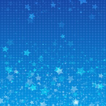 Star Bokeh, Digital Paper, Snow, Blue, Winter