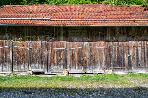 Field Barn, Barn, Scale, Log Cabin, Gates, Doors