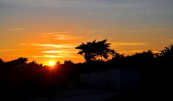 Atmospheric, Sunset, Ile De Ré, France, Atlantic Coast