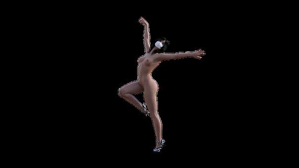 Nude, Girl, Pose, Yoga, Dancer, Asana, Breathe, White