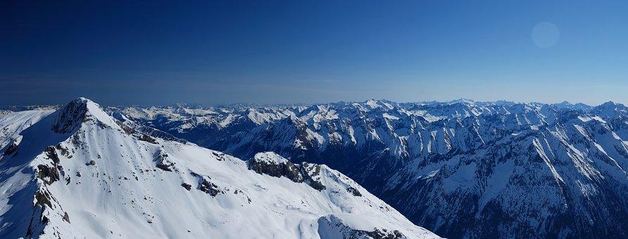 Hintertux, Austria, Mountains, Landscape, Glacier