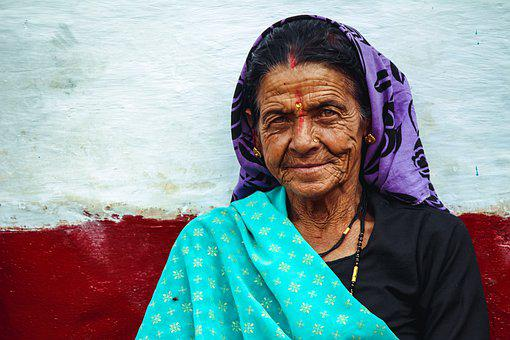 Old Woman, Village, Woman, Old, Asian, Traditional