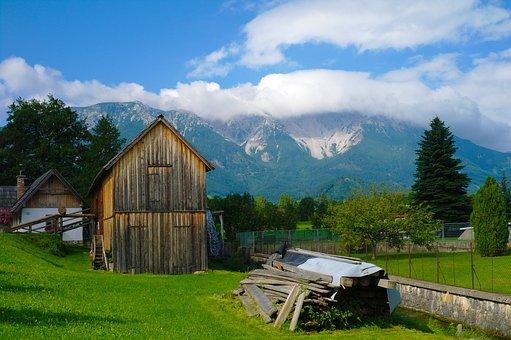 Haystacks, Puchberg, Lower Austria, Austria, Rural