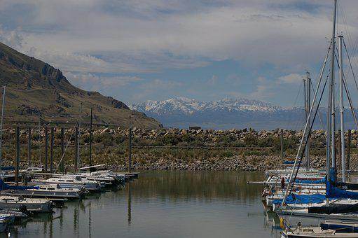 Salt Lake City, Utah, Salt Lake, Lake, Water, Blue