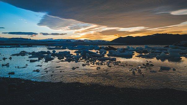 Iceland, Landscape, Water, Sky, Waters, Sea, Wave