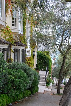 Home, Residence, Brownstone, Stairs, House, Residential
