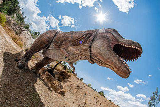 T-rex, Tyrannosaurus, Gondava, Boyaca, Colombia, Sky
