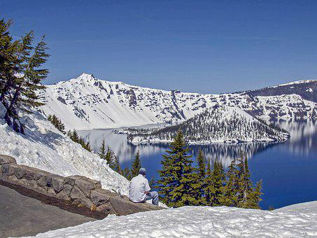 Crater Lake, Oregon, Usa, Landscape, Nature, Outdoors