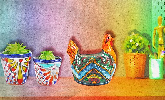 Watercolor Cactus, Cactus, Cacti