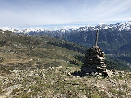 View From The Motto Crostel, Alpine Route, Alps, Alpine