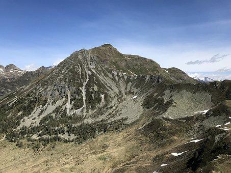 View From The Pizzo Di Nara, Alpine Route, Alps, Alpine