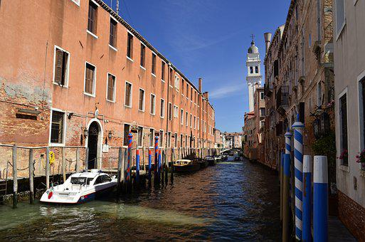 Italy, Venice, Water, Channel, Architecture, City