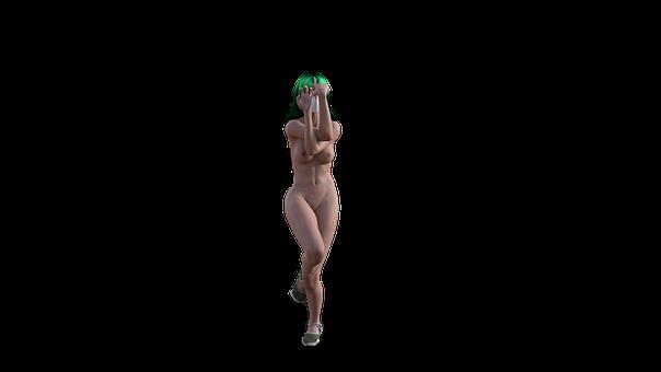 Nude, Girl, Yoga, Pose, Yogini, Dancer, Asana, Breathe