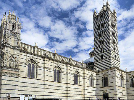 Italy, Hers, Cathedral, Campanile, Tuscany, Church