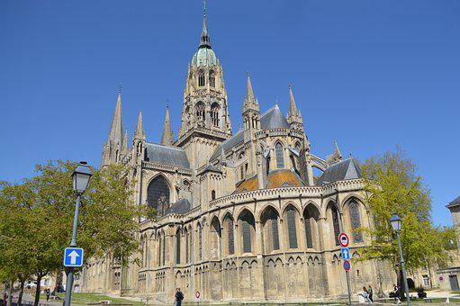 Building, Cathedral, City, Bayeux, Normandy, Huge