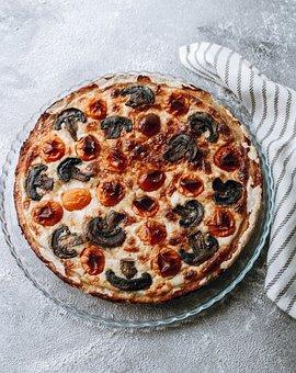 Kish, Pie, Cheese, Tomatoes, Mushrooms, Salty