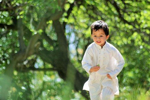 Kid, Running, Happy, Child, Children