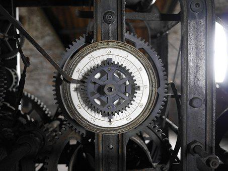 Movement, Old Clockwork, Church Clock, Old, Gears