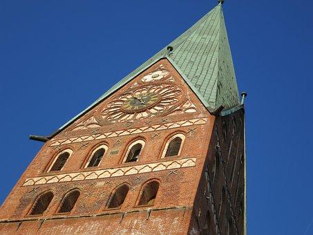 Church, Lüneburg, Gothic, Tower, Germany, Architecture