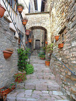 Collepino, Italian Streets, Village, Middle Ages
