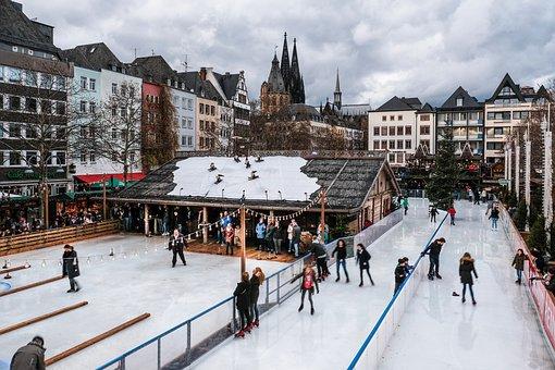 Cologne, Christmas Market, Christmas, Lights, Brownie