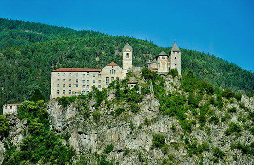 Monastery, South Tyrol, Mountains, Faith, Religion, God
