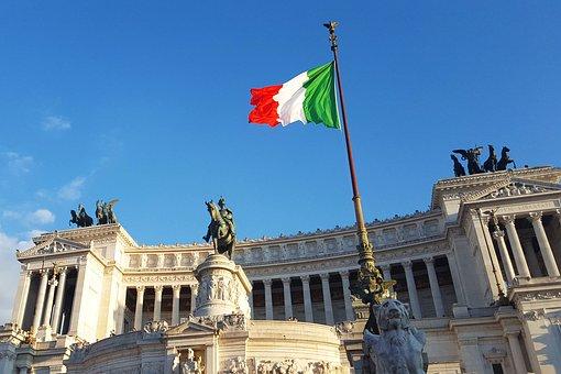 Italy, Italian Flag, Rome, Italian, Flag, Europe
