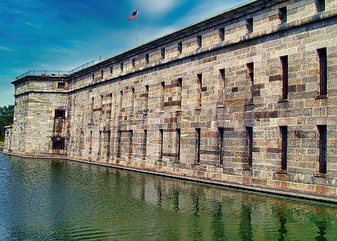 Fort, Delaware, Moat, War, Rampart, Defense, Fortress