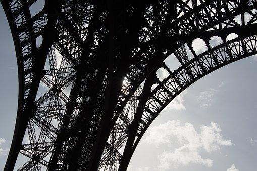 Paris, Eiffel, Tower, France, Architecture, Sky