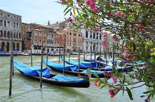 Italy, Venice, Gondola, Water, Channel, Architecture