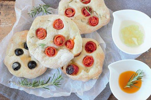 Rosemary, Bread, Pizza, Mediterranean, Italy, Italian