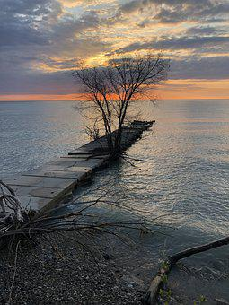 Sunrise, Lake, Water, Nature, Landscape, Travel, Sunset
