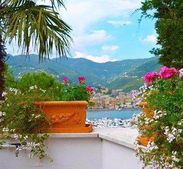 Beautiful, View, Bay, Balcony, Italy, Travel, Landscape