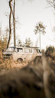 Van, Box Car, Auto, Mobile Home, Vwt3, Camping Bus