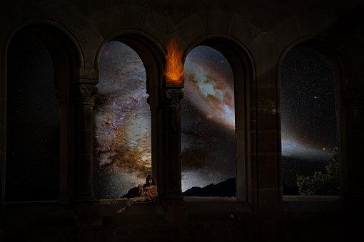 Montserrat, Barcelona, Andromeda, Sky, Space