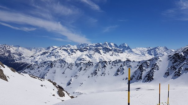Mountains, Corvage, Snow, Switzerland