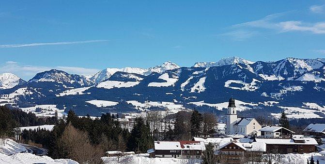 Wintry, Allgäu, Mountains, Winter Holiday, Christmas