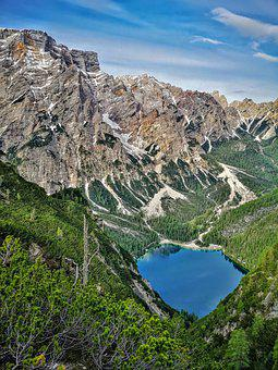 Lake, Mountain, Nature, Forest, Alps