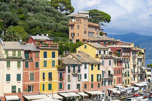 Colorful, Portofino, Porto, Italy, Landscape, Holidays