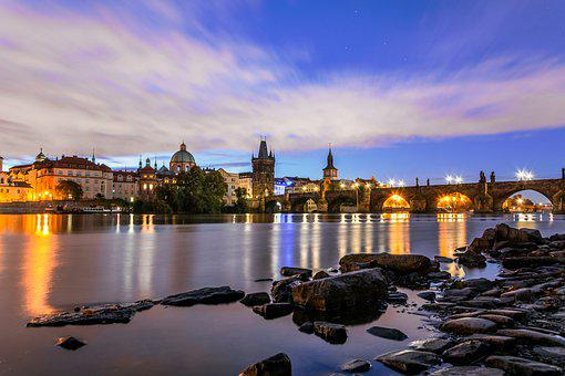 Prague, Charles Bridge, Cityscape, Czech Republic
