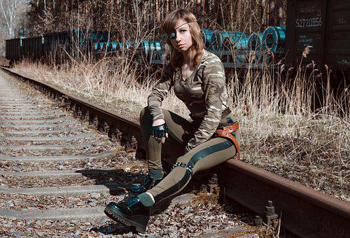 Military Uniform, Super Hero, Rails, Train, Railway