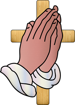 Praying Hands, Jesus, Cross, Prayer, Worship, Religion